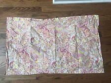 Ralph Lauren Pink & Tangerine Paisley & Floral King Sham