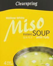 Clearspring instantanée Soupe Miso Mellow Blanc avec du tofu 40 g Pack de 8