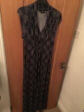 French Connection Patterned Navy Blue Maxi Dress. Size UK 12 / US 8 / EUR 40
