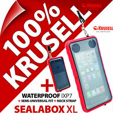 Krusell SEALABOX XL Waterproof Mobile Phone Case Cover Pouch Underwater Nokia Asha 201 C7 E7