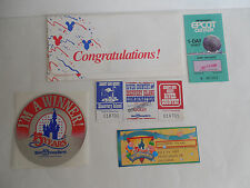 Rare River Country & Discovery Island Combo Prize Ticket Set Walt Disney World