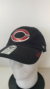 🔥🔥OFFICIAL CINCINNATI REDS MLB '47 CLEAN UP BLING ADJUSTABLE WOMENS Hat⚾⚾