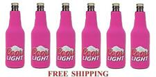 Coors Light Mountains 6 Beer Bottle Suit Coolers Koozie Coolie Huggie Pink New