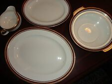 VTG ANTIQUE ALFRED MEAKIN ENGLAND CHINA 4 PIECE PLATTER SERVING BOWL GRAVY BOAT