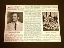 Milano 23 marzo 1928 Morte del Ministro Marchese Francesco Medici di Marignano