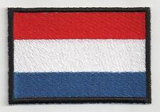 PATCH RICAMO TOPPA BANDIERA FLAG OLANDA cm. 5,5 X 8 NEDERLAND PAESI BASSI