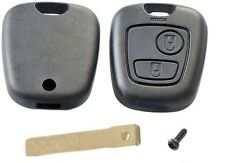 for Peugeot 307 2 button remote key case shell with blank key blade