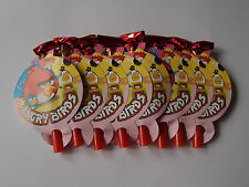 8 x ANGRY BIRDS BIRTHDAY PARTY BLOWERS BLOWOUTS