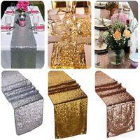 Decorazioni oro paillettes runner in stoffa sfondo festa di matrimonio 30x180 CR