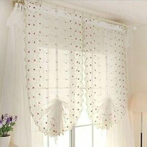 Bowknot Roman Indoor Curtain Tie Up Shade fr Window,room Rod Pocket Panel 33x93""