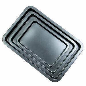 Set of 3 Non-Stick Baking Trays Carbon Steel Roasting Tin Fridge Safe M&W