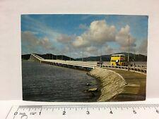 Postcard Macao Taipa Bridge Macau China Vintage Yellow Double Decker Bus