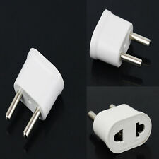 1pc White US USA to EU Europe AC Power Plug Converter Travel Adapter Charger