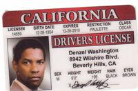 Denzel Washington Drivers License - star of Philadelphia Antwone Fisher GLORY