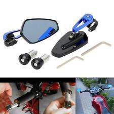 "Motobike 7/8"" Bar End Side Rearview Mirror Handlebar Rear View Mirror Black&Blue"
