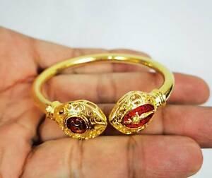 Bangle Bracelet I Ai Kai Gold brass Talisman Lucky Gamble Kuman Thong Amulet