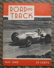 ROAD & TRACK Magazine #2 1948 Auto RACING HOT ROD SCTA Custom Cars 1949 LINCOLN