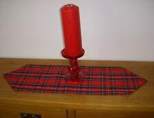 BURNS NIGHT TARTAN Mini ChristmasTable Runner Coffee Decoration Red 60cm pointed
