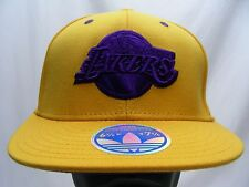 LOS ANGELES LAKERS - NBA - ADIDAS - S/M SIZE 6 7/8 - 7 1/4 BALL CAP HAT!