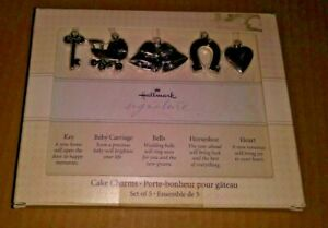 NEW Hallmark Southern Cake Charms Set of 5 Wedding Marriage Silver Shower