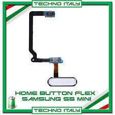 HOME BUTTON FLEX PULSANTE TASTO per Samsung Galaxy S5 Mini G800F BIANCO FLAT
