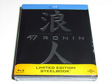 47 RONIN BLU-RAY STEELBOOK LIMITED EDITION CHROME EMBOSSING NEW KEANU REEVES