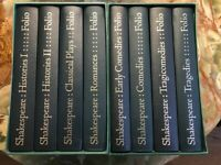 WILLIAM SHAKESPEARE, COMPLETE PLAYS, Folio Society, London, 1977, 8 Volumes