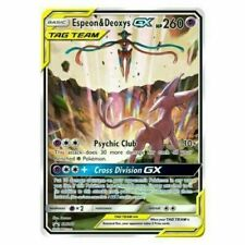 Pokemon Espeon & Deoxys GX Tag Team SM240 PROMO HOLO JUMBO | 1 CARD + PROTECTOR