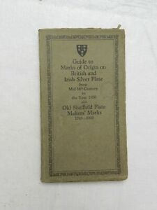 1950, Guide to Marks of Origin on British and Irish Silver Plate...Year 1950, SB