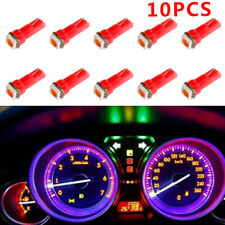 10pcs T5 Auto Car Gauge 5050 1SMD 12V LED Dashboard Dash Side Light Bulb Pink