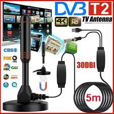 DE DVB-T2 TV Terrestrische 5M HD DAB Antenne 30dbi Aussen Außen W/2x Verstärker