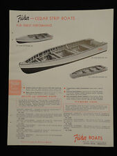 Original 1951 FISHER Cedar Strip Boats Dealer Catalog Sales Sheet w/ Price List