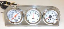 2''  Water Temp AMPs Oil Pressure Triple Gauge Mechanical Chrome Bezel