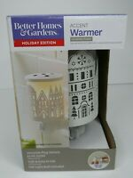 """Better Homes And Gardens """"GLOWING TOWN"""" Wax Melt Warmer Houses Accent Plug NEW"""
