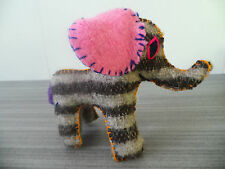 "6"" TALL ELEPHANT TWOOLIES HANDMADE DECORATIVE WOOL ANIMAL MEXICO GIFT SMALL NWOT"