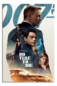 """Laminated James Bond No Time To Die Profile Poster Official Licensed 24x36"""""""