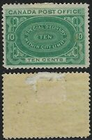 Canada Scott E1: 10c Queen Victoria Within City Limits Special Delivery, F-VF-HR