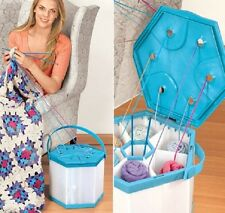 Portable Yarn Organizer Six Compartments Tangle Free Tote Spacious Expedite