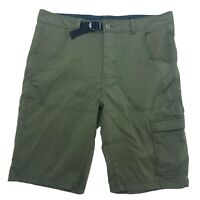 Men's Great Northwest Green Belted Cargo Hiking Outdoor Shorts Size 36