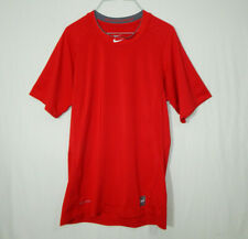 Nike Pro Combat Dri Fit Short Sleeve Fitted T Shirt Size SMALL S Mens Clothing