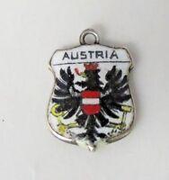 AUSTRIA Vintage Silver Enamel Travel Shield Charm