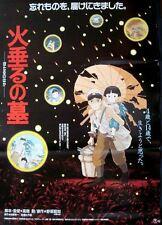 GRAVE OF THE FIREFLIES Japanese B2 movie poster MIYAZAKI STUDIO GHIBLI 1988 NM