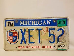 Michigan World's Moteur Capitale 1996 Américain Automobile Centennial Licence