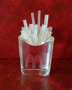 Rare trophée McDonald's - Cornet de frites en verre dans son coffret d'origine