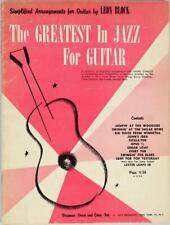 The Greatest In Jazz For Guitar Book Rare Out of Print Leon Block