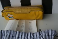NEW AUTHENTIC Anya Hindmarch MUSTARD YELLOW  STAR PENS AND PENCILS CASE  GIFT
