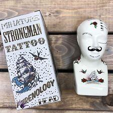 Témérité jones 15cm phrénologie tatouage miniature céramique strongman tête excentrique