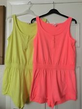 2 Cotton shorts Playsuits / all in ones size S