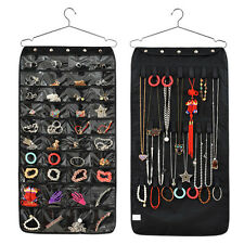 Jewellery Hanging Storage Display Bag Hanger Accessory Organiser Double Side