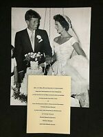 KENNEDY JFK/JACKIE EXTREMELY RARE ORIGINAL 1953 WEDDING INVITATION WITH PHOTO!!!